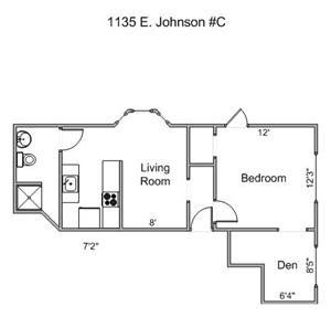 1 Bedroom Apartment For Rent Madison Wi